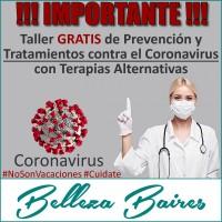 Taller GRATUITO de Terapias Alternativas contra el CORONAVIRUS