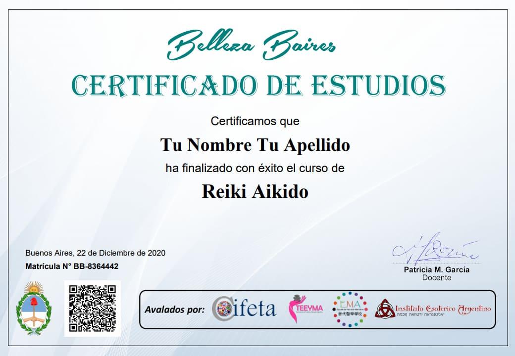 Certificado de estudios de Belleza Baires