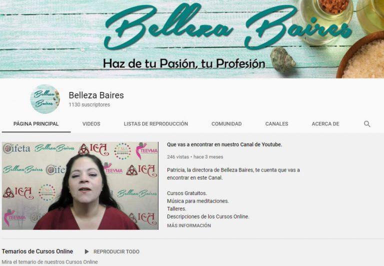 Canal de Youtube de Belleza Baires